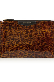 Givenchy Antigona pouch in leopard-print patent-leather