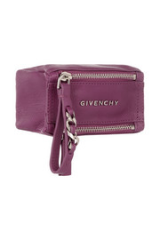 Small Pandora coin pouch in magenta textured-leather