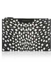 Givenchy Antigona pouch in black and white coated-canvas