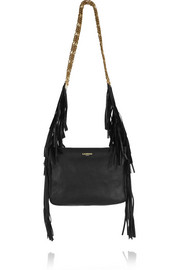 Lanvin Tribale fringed textured-leather shoulder bag