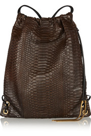 Lanvin Drawstring python and leather backpack