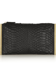 Lanvin Private python clutch