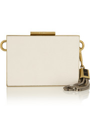 Lanvin Textured-leather clutch