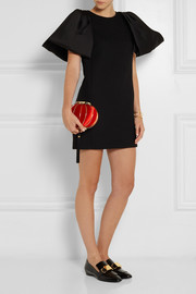 Charlotte Olympia Lantern satin and brass clutch