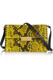Beckett mini snake-effect faux leather shoulder bag