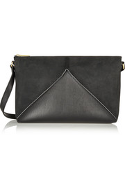 Stella McCartney Cavendish faux suede and faux leather shoulder bag