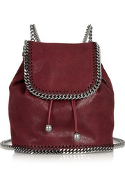 Stella McCartney The Falabella mini faux brushed-leather backpack