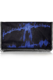 Stella McCartney The Falabella tie-dyed satin clutch
