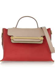 Chloé Clare medium textured-leather shoulder bag