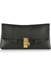 Chloé Drew textured-leather clutch
