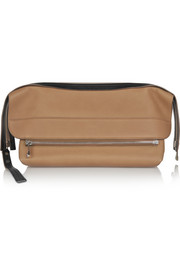 Dalston leather clutch