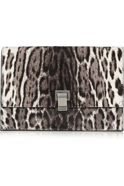 Proenza Schouler Lunch Bag small calf hair and leather clutch