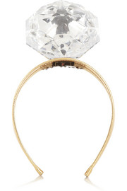 Piers Atkinson Mega-Diamond embellished leather headband