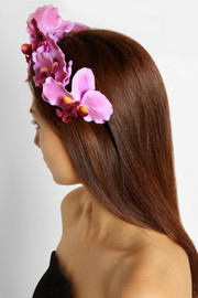 Piers Atkinson Silk orchid headband