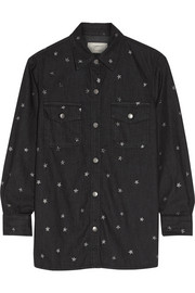 Current/Elliott The Perfect star-print denim shirt