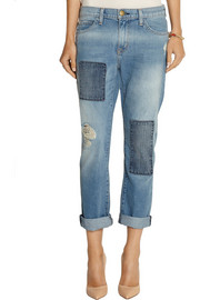 Current/Elliott The Fling patchwork mid-rise boyfriend jeans