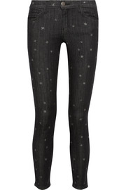 The Stiletto star-print mid-rise skinny jeans