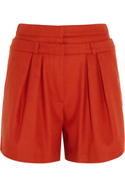 Paul & Joe Hauvent wool-bend felt shorts