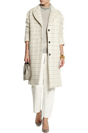 Paul & Joe Maylis checked wool-blend coat