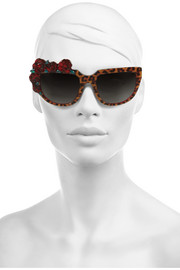 Rose Rouge D-frame leopard-print acetate sunglasses