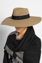 Maison Michel Fara wide-brim rabbit-felt hat