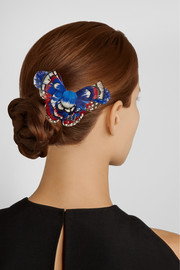Maison Michel Feather-embellished butterfly hairclip