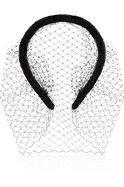 Jennifer Behr Grosgrain and net headband