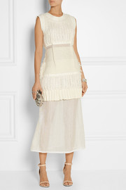 Calvin Klein Collection Alsea gauze-paneled knitted maxi dress