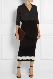 Calvin Klein Collection Perseus ribbed-knit midi skirt