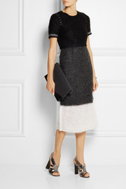 Calvin Klein Collection Alessia wool and mohair-blend midi dress