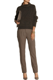 Agnona Wool-blend felt straight-leg pants