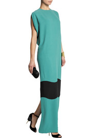 Agnona Color-block silk-crepe maxi dress