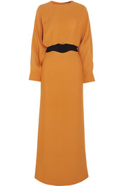 Agnona Two-tone silk gown