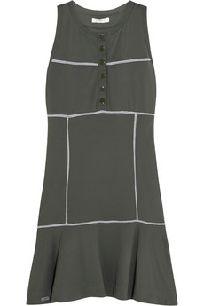 Drop-waist piqué dress