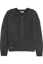 Pointelle-knit cashmere hooded top