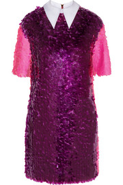 House of Holland Paillette-embellished tulle mini dress