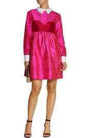 House of Holland Aurora silk-shantung mini dress