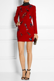 House of Holland Sequin-embellished velvet mini dress