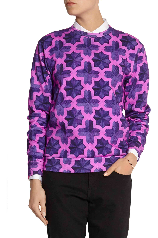 House of Holland Parquet printed cotton-jersey sweatshirt