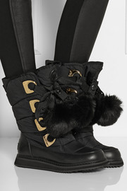 DKNY Verna shell and faux fur boots