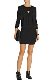 IRO Adelina wrap-effect crepe mini dress