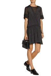 Vanessa Bruno Athé Beata crepe de chine and georgette dress