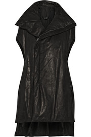 Rick Owens Padded washed-leather down vest