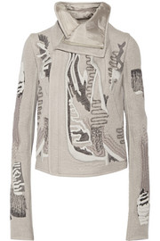 Rick Owens Embroidered cashmere biker jacket