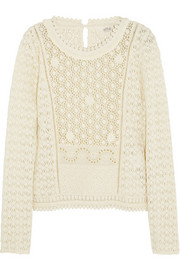 Vanessa Bruno Athé embroidered cotton-lace top