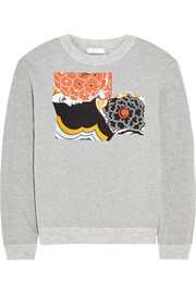 Michael van der Ham Embroidered cotton-jersey sweatshirt