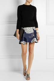 Michael van der Ham Silk-jacquard mini skirt