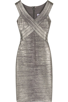 Hervé Léger Scoop-neck bandage dress