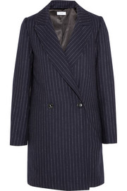 TITLE A Chesterfield pinstriped wool coat