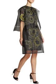 Michael van der Ham Embroidered silk-organza dress